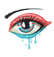 Red Blue Colors Eye vector image vector image