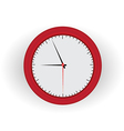 red clock vector image vector image