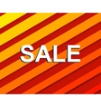 Red striped sale poster with SALE text vector image vector image