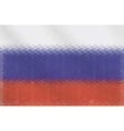 Russian flag of geometric shapes vector image vector image