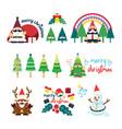 santa claus gnomes concept christmas design vector image