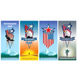 set greeting cards to veterans day vector image vector image