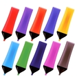 Set od Colorful Markers vector image vector image