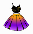 set womens clothing top and skirt vector image vector image