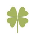 simple symbol of clover leaf green leaf vector image