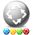 spinning rotating arrows for rotation circular vector image