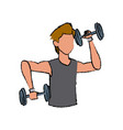 sport man weight lift fitness active vector image vector image