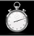 stop watch 3d on black vector image vector image