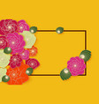summer banner design with bright paper flowers vector image