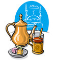 tea with delight vector image vector image