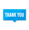 thank you price tag vector image