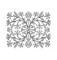 the flower ornament pattern is drawn hand vector image