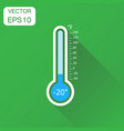 thermometer icon business concept goal pictogram vector image vector image