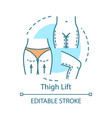 thigh lift concept icon vector image vector image