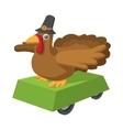 Turkey cartoon icon vector image