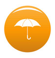umbrella icon orange vector image