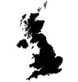 united kingdom map silhouette isolated on vector image
