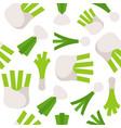 vegetable seamless pattern leek fennel and spring vector image vector image