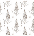 willow herb seamless pattern hand drawn botanical vector image vector image