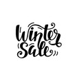 winter sale unique banner with cute lettering vector image vector image