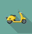 yellow retro scooter vector image