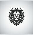 lion head mascot logo icon vector image