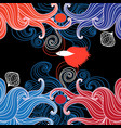 abstract marine background vector image vector image