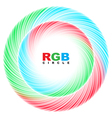 Abstract RGB circle vector image vector image