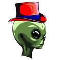 alien face isolated on white photo-realistic vector image vector image