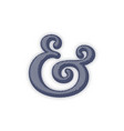 ampersand vector image vector image
