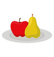 apple and fruits design vector image vector image