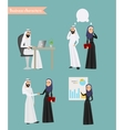 Arab Business People Meeting vector image vector image