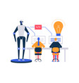artificial intelligence - flat design style vector image vector image