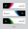 banner design for business presentation vector image vector image