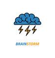 brain brainstorming idea icon vector image vector image