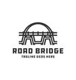 bridge construction logo design vector image vector image