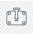 briefcase concept linear icon isolated on vector image