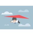 Businessman riding a hang glider vector image vector image