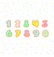 cartoon set of cookies numbers vector image