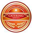 Catering Service Label vector image