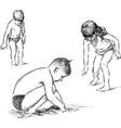 children on a beach vector image