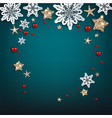 chistmas blue frame vector image vector image