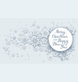 christmas snow greeting vector image vector image