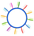 colorful cartoon toothbrush background vector image