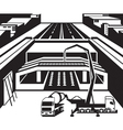 Construction of subway station in city vector image vector image