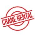 Crane Rental rubber stamp vector image vector image
