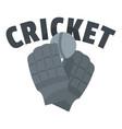 cricket gloves logo flat style vector image