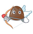 cupid chocolate candies character cartoon vector image