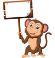 cute monkey cartoon vector image vector image