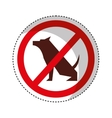 dog signal traffic isolated icon vector image